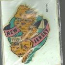 Vintage style Decal Sticker-  New Jersey- The Garden State- NOS