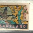 Vintage style Decal Sticker- Maryland Vintage