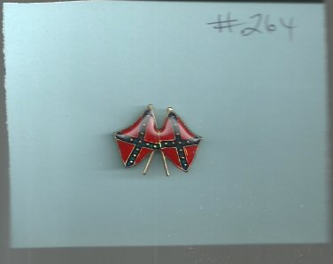Double Flags    hat (lapel) pin ( # 264)