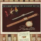 1937  Hamilton Watch ad ( # 1216)