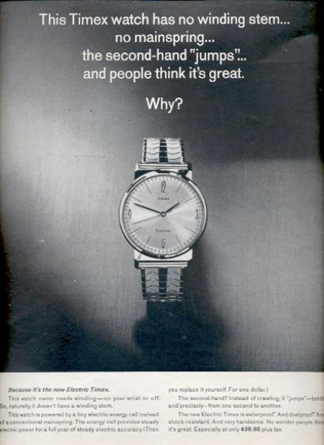 1964  The Electric Timex watch  ad (#5391)