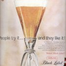 1959 Carling Black Label Beer ad (# 4377)