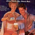 1960  Budweiser Beer ad ( #2037)