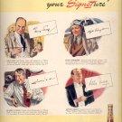 April 7, 1941  Hiram Walker's   Signet Whiskey    ad  (#3745)