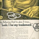 Oct. 30, 1939   Ballantine's Ale    ad (#6062)