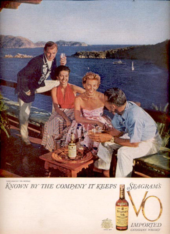 1960  Seagram's V.O. Canadian Whisky ad (#5494)