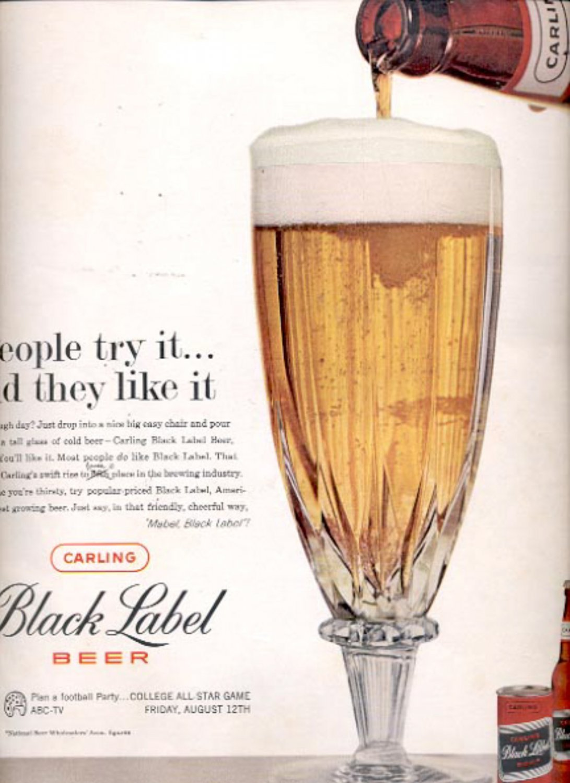 1960  Carling Black Label Beer  ad (#5489)