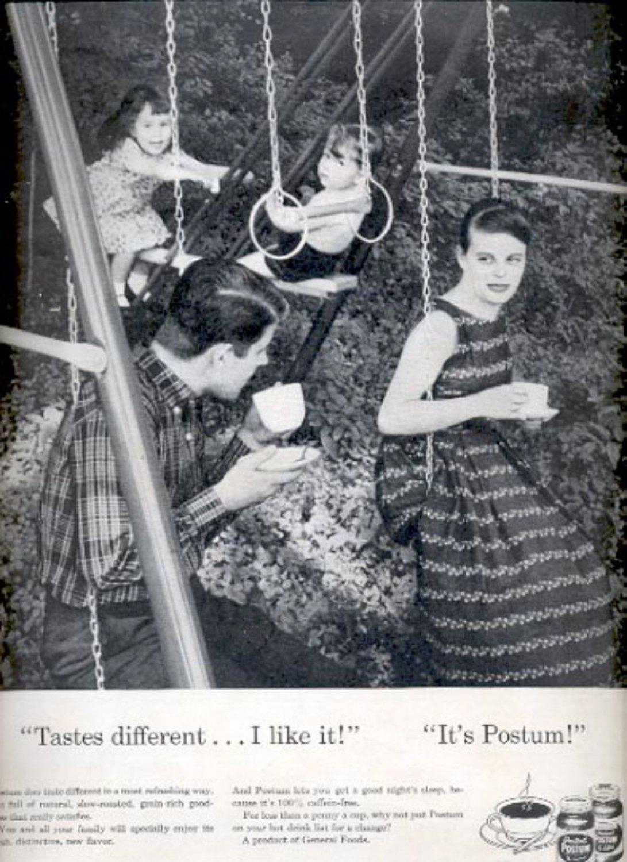 1957    Instant Postum  hot drink  ad (# 4926)