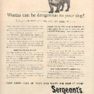 1962  Sergeant's Dog Wormer ad ( # 1451)