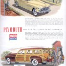Sept. 1949    Plymouth Builds great cars     ad  (#2956)