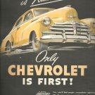 May 17, 1948   Only Chevrolet is First  ad  (#1987)