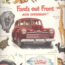 Sept. 16, 1946       Fords Out Front with everybody      ad  (#2203)