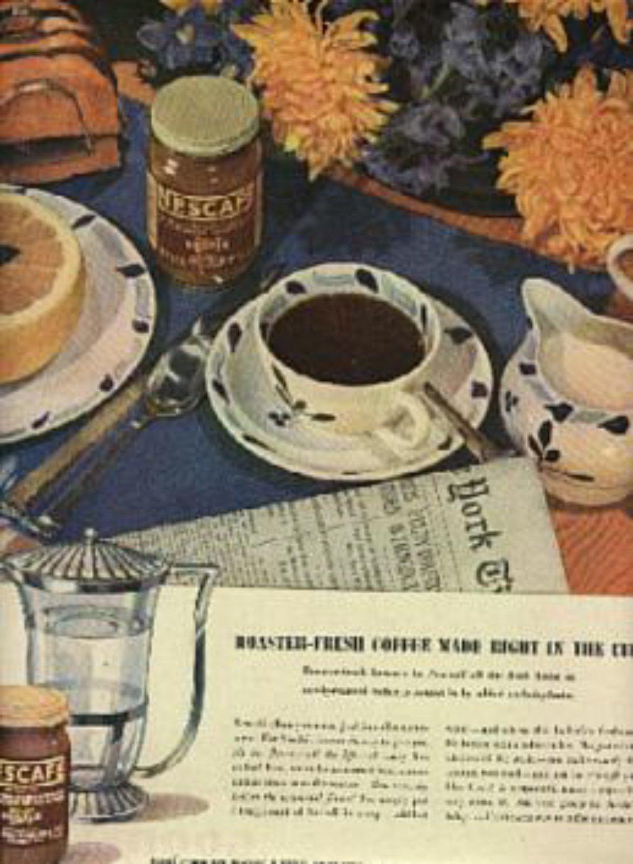 1945  Nescafe Coffee ad (# 1234)