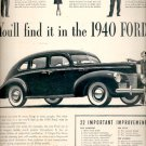 Nov. 20, 1939  Ford Motor Company 's 1940 Ford   ad (#6034)