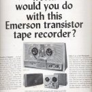 1964  Emerson transistor tape recorder   ad (# 4506)