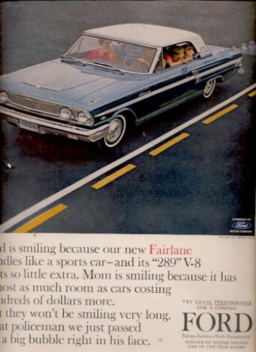 1964  Ford Fairlane 500- sports coupe   ad (#5703)