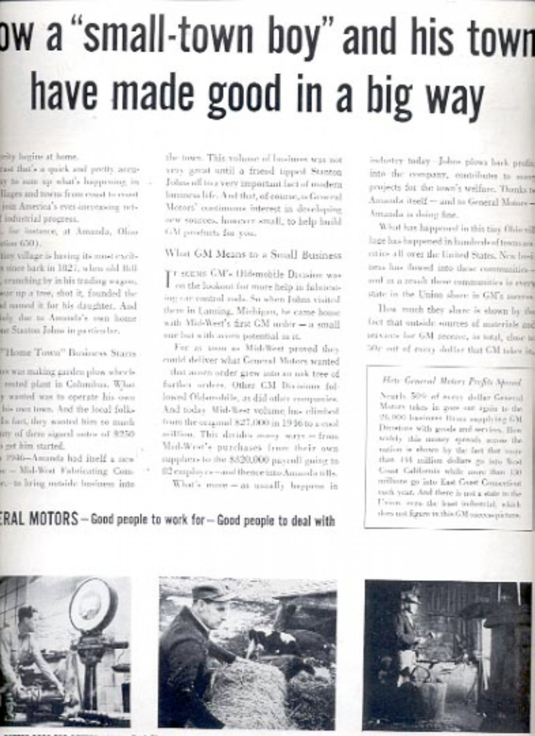 1957  General Motors- good people to work for- good people to deal with    ad (# 4958)