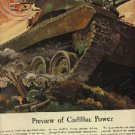 1945  Cadillac  power ad (tank design (# 872)