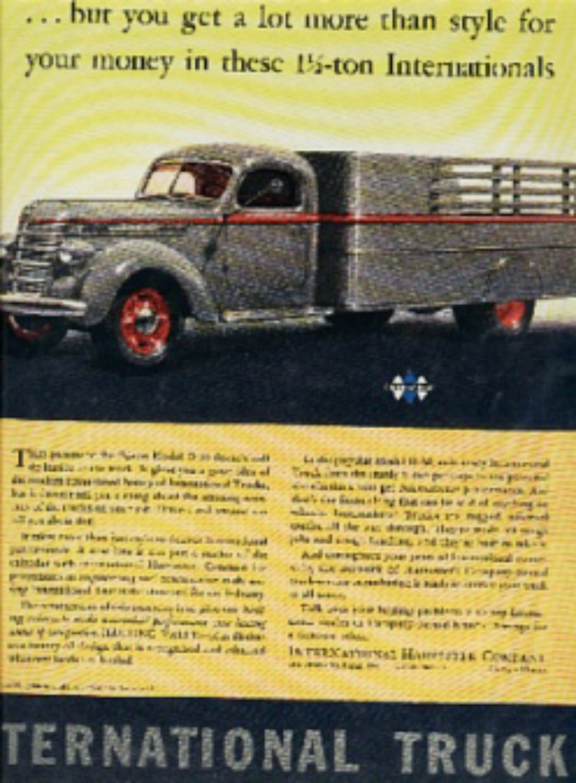 Dec. 1939 International Trucks  magazine ad (# 262)