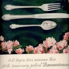 Sept. 1, 1947        1847 Rogers Bros. Remembrance silverware     ad  (#6434)