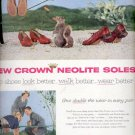 1957  New Crown Neolite Soles  ad (# 4966)