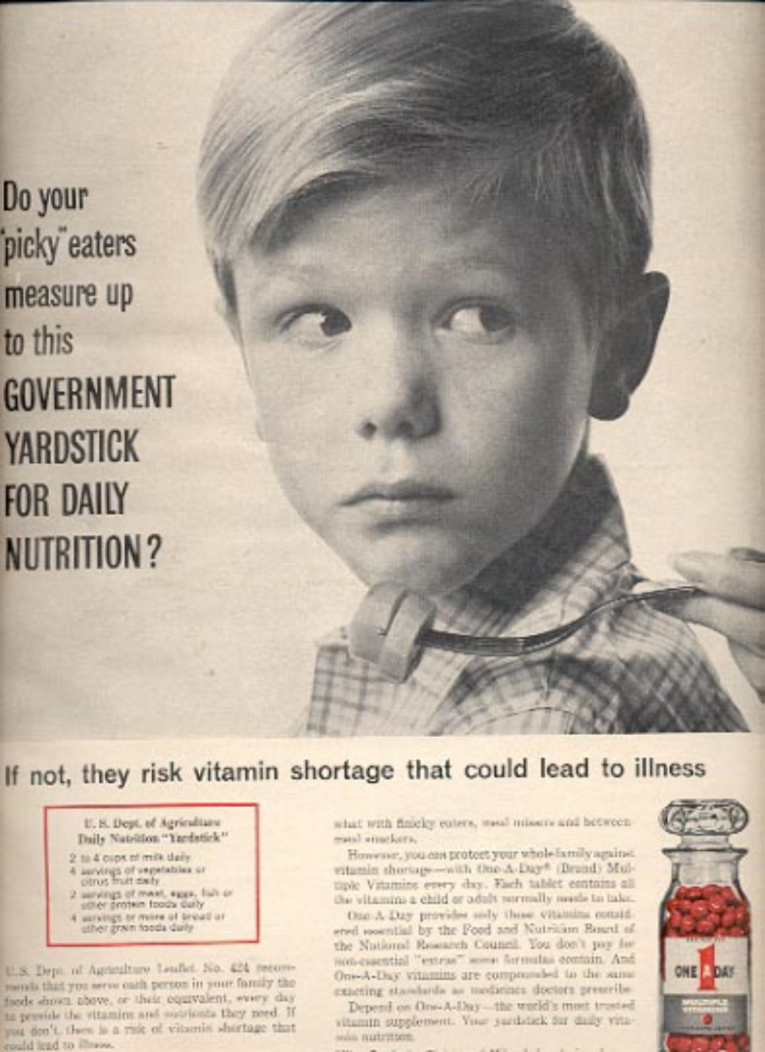 1964    One A Day Multiple Vitamins  ad (# 4875)