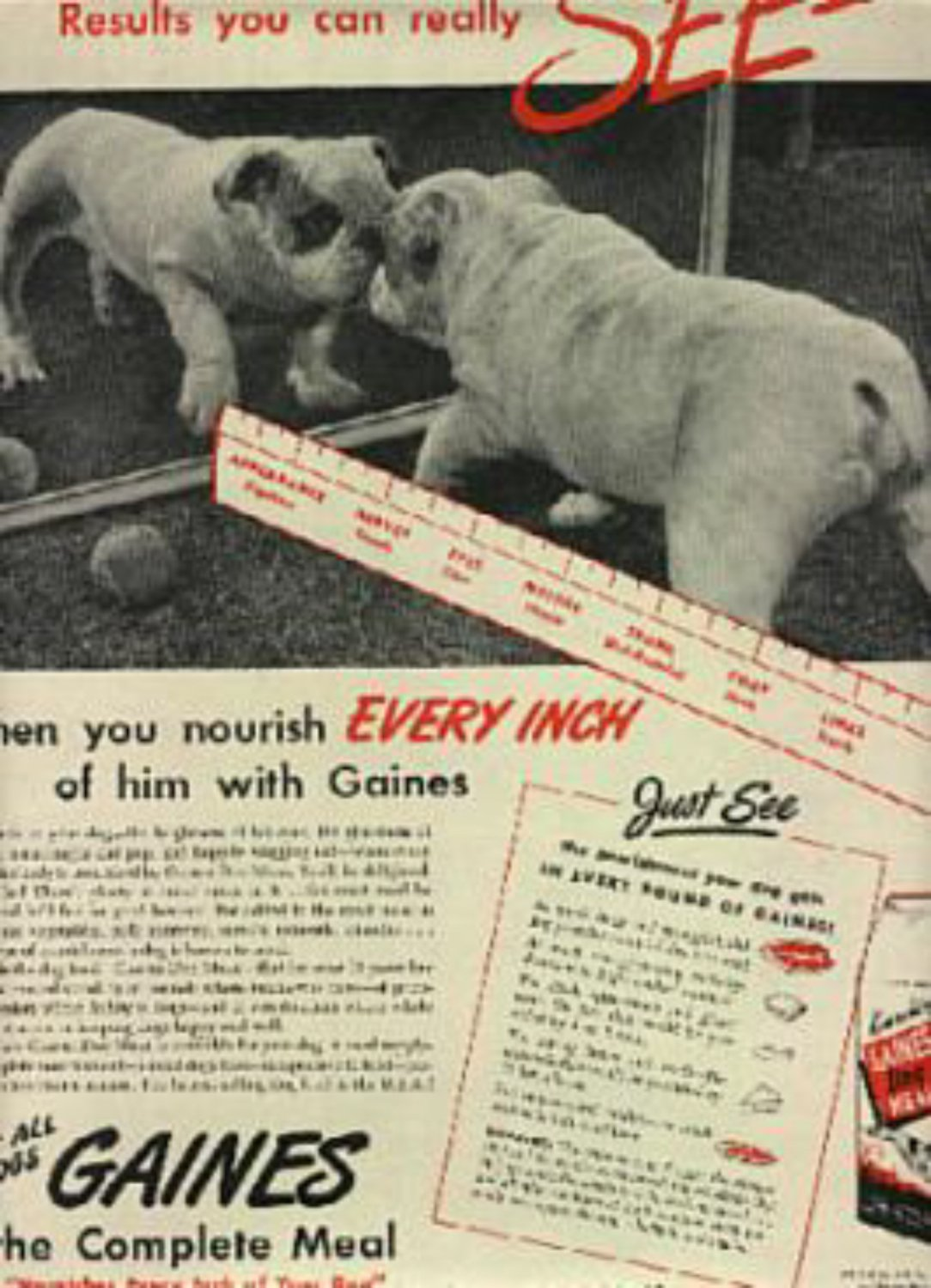 1945 Gaines Dog Meal ad (# 814)
