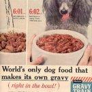 1960   Gravy Train Dog Food ad ( # 2053)
