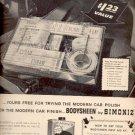 1957  Simoniz Bodysheen Car Polish  ad (# 4910)
