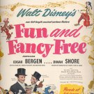 Sept. 1, 1947       Walt Disney's Fun and Fancy Free movie      ad  (#6441)