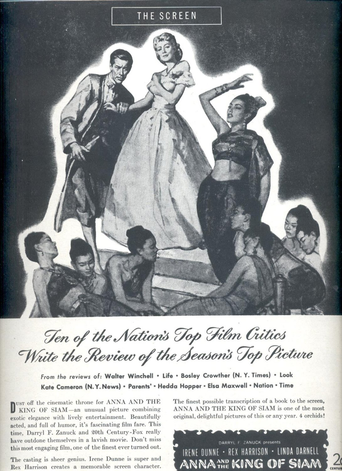 Sept. 2, 1946  Anna and the King of Siam movie magazine  ad  (#3646)