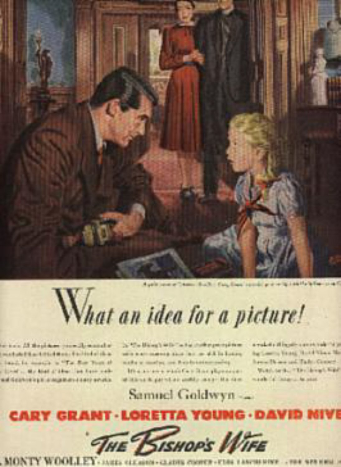 """1946  """"The Bishop's Wife """" movie ad (# 1097)"""
