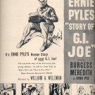 "June 25, 1945    Ernie Pyles ""Story of G.I. Joe""' movie   ad  (#3771)"