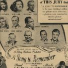 "1945 ""A Song to Remember""   movie  ad  (#864)"