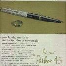 1963 Parker 45 Convertible Pen ad (# 572)