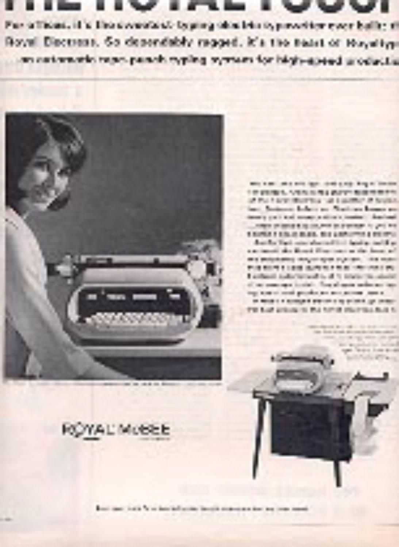 1965  Royal McBee Corporation Electric Typewriter ad (# 3168)