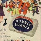 1952 Fleer's Dubble Bubble Gum ad (#  793)