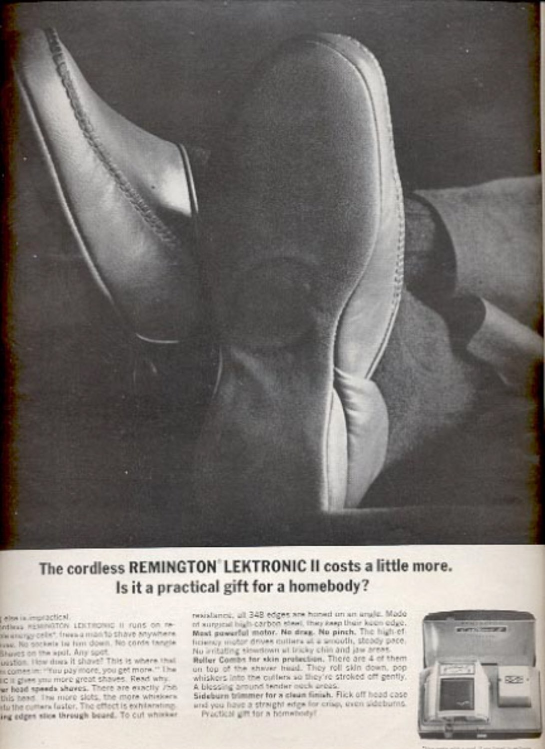 1964  Remington Lektronic II shaver  ad (#5389)