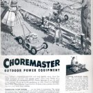 1957     Choremaster outdoor power equipment  ad (# 4807)