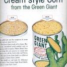 Nov. 1960   Green Giant cream style corn  ad (#5764)