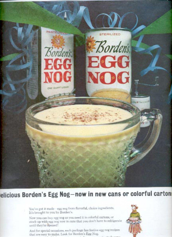 1963 Borden's Egg Nog  ad (#5518)