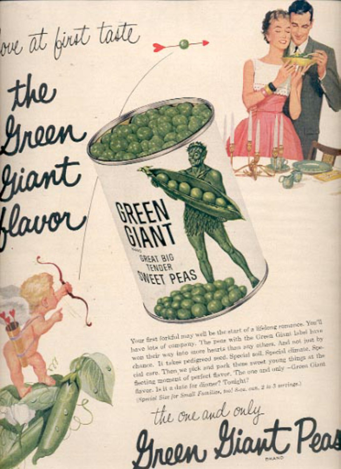 1957  Green Giant Peas  ad (# 4989)