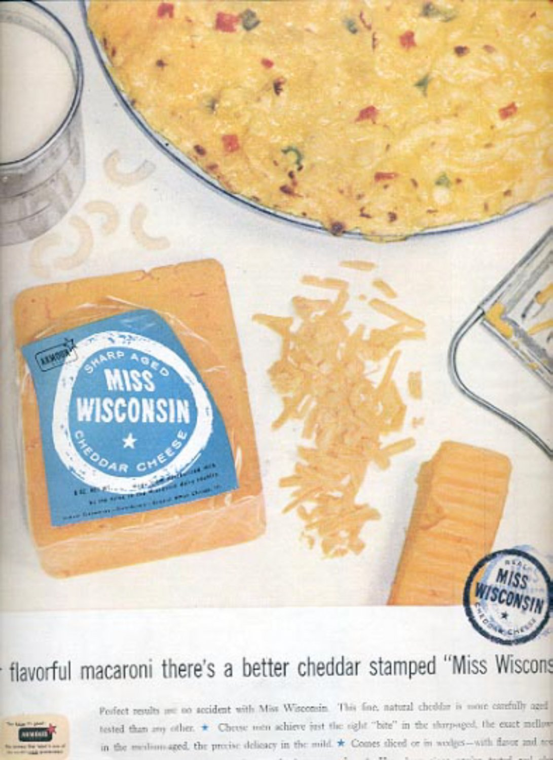 1957  Miss Wisconsin Cheddar Cheese   ad (# 4951)