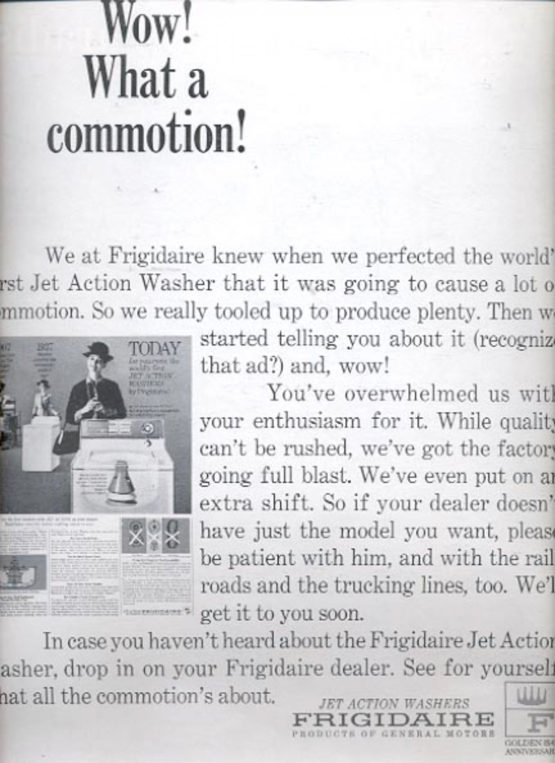 1964 Frigidaire Jet action washer  ad (#5438)