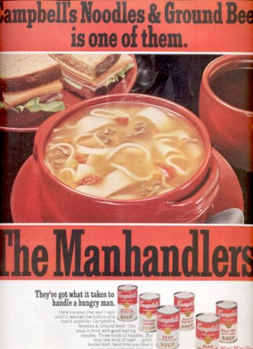1968  Campbells The Manhandlers Soups  ad (# 4570)