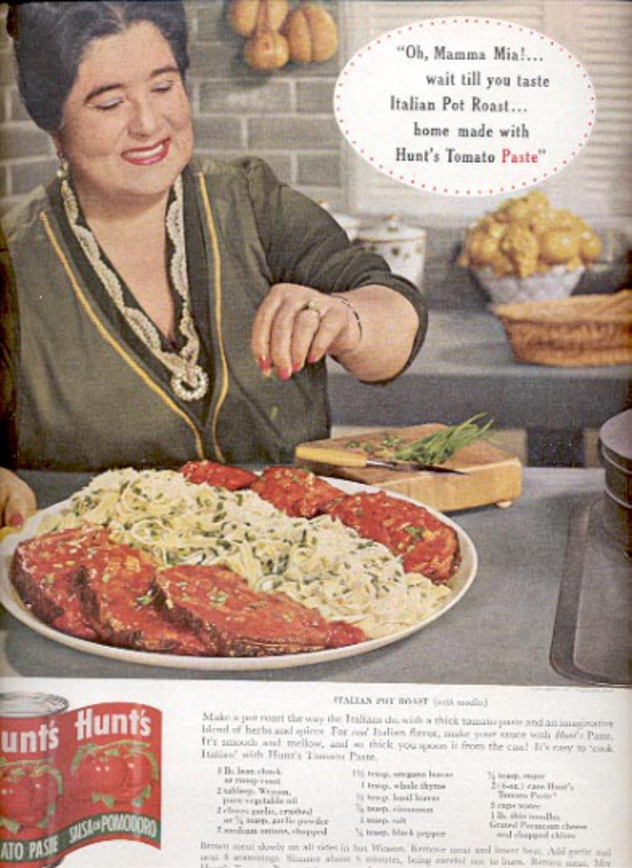 1963   Hunt's tomato Paste  magazine  ad (#4203)