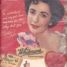 1952 Whitman's Sampler ad  with Liz Taylor (#84)