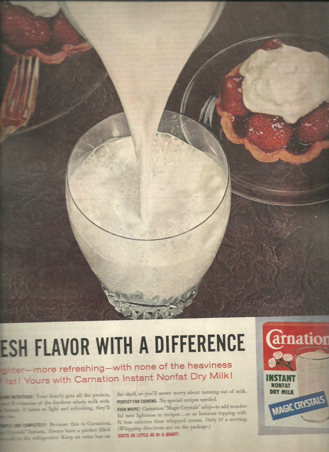 1962  Carnation Dry Milk ad (# 3300)