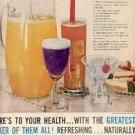 1961 Pure Grapefruit Juice ad ( # 2296)