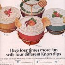 1964 Knorr Soup Mix dips  ad ( # 2548)